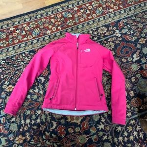 XS pink north face jacket